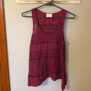 Racerback Tank with lace throughout